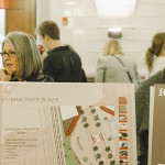 Chatham U and W-T Students working on design of Oakland sites