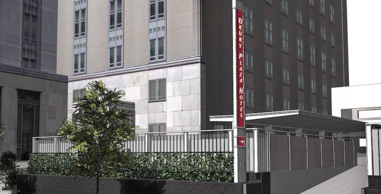 drury hotel facade