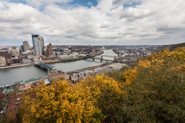 Downtown Pittsburgh in Autumn