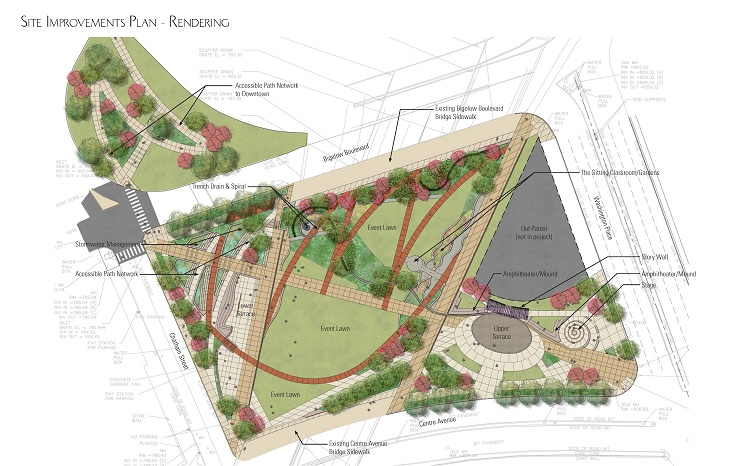 Plans for I-579 park — intended to bridge neighborhoods and honor the Hill — forge ahead with better accessibility