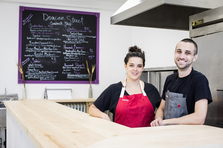 Grab lunch at the new Duncan Street Sandwich Shop. Then sign up for a five-course dinner.