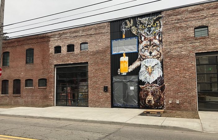 Cinderlands Warehouse is artist Jeremy Raymer's latest large-scale canvas